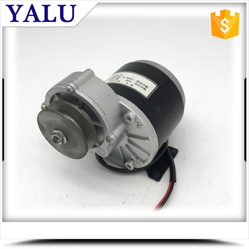 все цены на MY1016Z3 350W 24V or 36V  Permanent magnet brush DC motor with Pulley electric bicycle DC Motor Toy car , AVG car motor онлайн