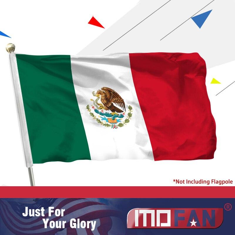 MOFAN 3 x 5 stop státní vlajka Mexika Mexicum - vysoce kvalitní trvanlivé a dvojitě prošité - sváteční průvod vlajky polyester