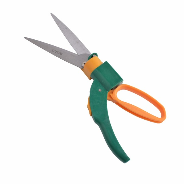 Flexsteel 13.5inch Grass Shears With 5in. High Carbon Steel 360 degree Rotary Blades For Edging and Trimming Decorative Grass