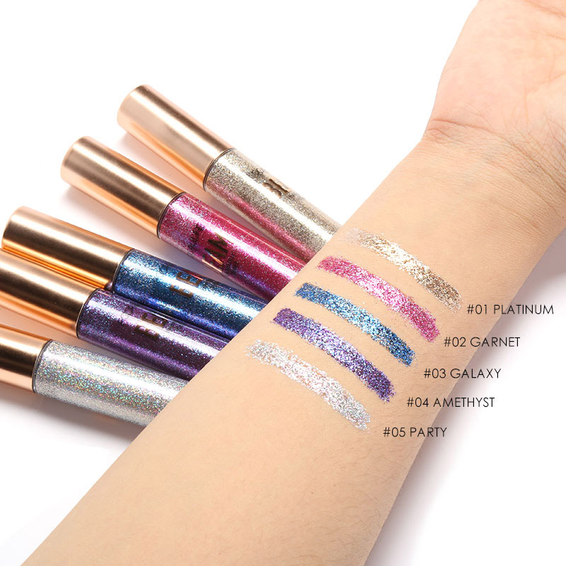 FOCALLURE Brand New 5 Colors Eyeliner Luminous Shimmer Waterproof Easy to Wear Liquid Eye liner Makeup free shipping 3 pp eyeliner liquid empty pipe pointed thin liquid eyeliner colour makeup tools lfrosted purple