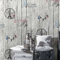 3D PVC Vintage Wooden Alphabet English World Large Mural Wallpaper For The Living Room TV Background