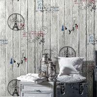 3D PVC Vintage Wooden Alphabet English World Large Mural Wallpaper For The Living Room TV Background