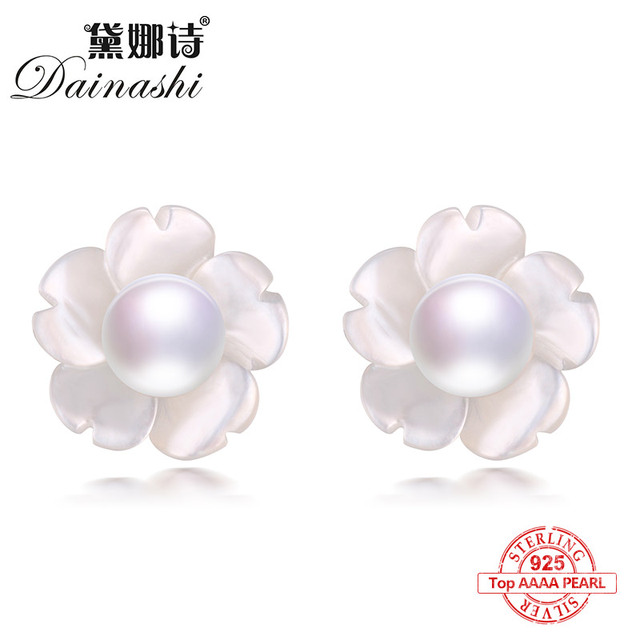 Dainashi 2017 new arrival 925 sterling silver freshwater colorful bread round pe