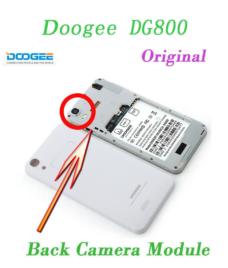 """Оригинальная фото задняя камера 13.0MP модуль для Doogee Valencia DG800 MTK6582 четырехъядерный 4,"""" QHD"""