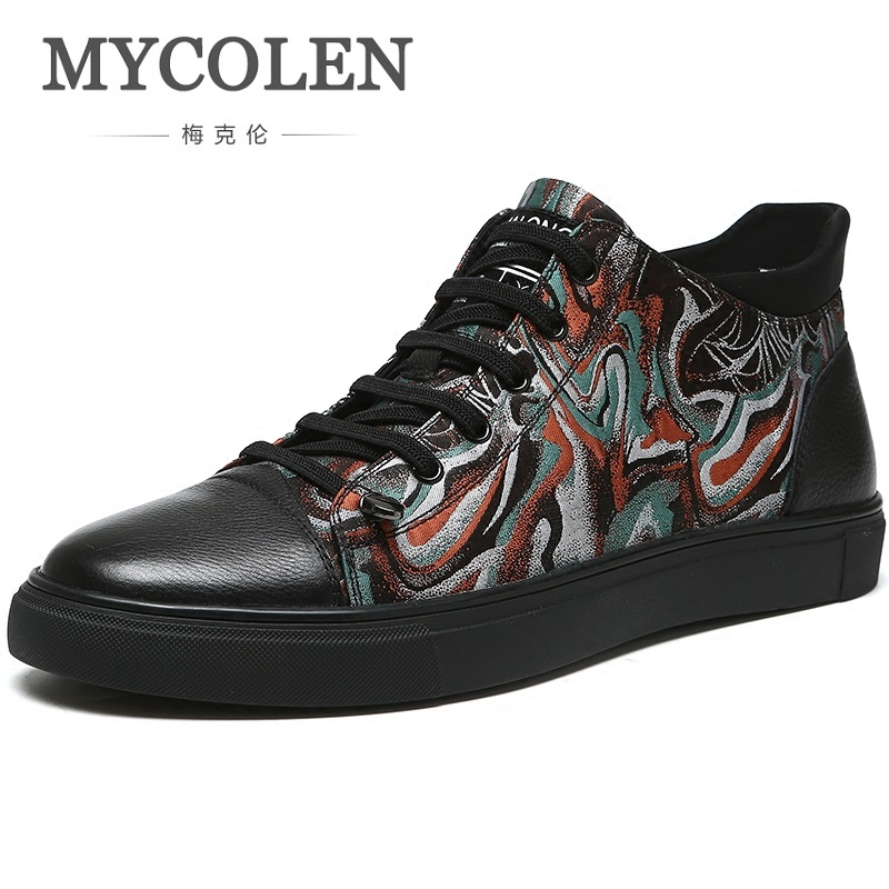 MYCOLEN 2019 Men Boots Leather Casual Lace Up Snow Boots Men Ankle Boots Men Working Boots For Men coturnos masculino