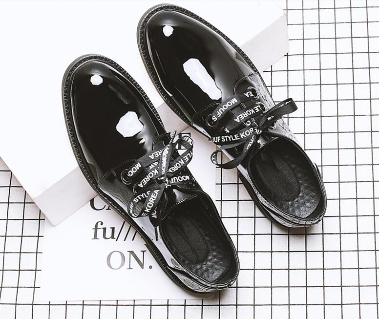 Dress shoes men slip on flats loafers patent leather smart casual shoes riband lace up classical black summer shoe breathable serene brand cow leather boat shoes men casual lace up shoes lightweight breathable loafers slip on shoes men dress shoes 6200