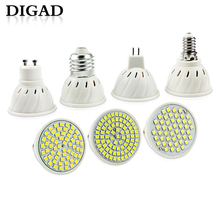 DIGAD E27 E14 MR16 GU10 Lampada LED Bulb 220V 240V Bombillas Lamp Spotlight 48 60 80 2835 SMD Lampara Spot Cfl