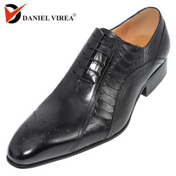 men dress wedding shoes Classic black coffee color luxury brand office formal pointed toe solid oxford Genuine leather mens shoe - DISCOUNT ITEM  50% OFF All Category