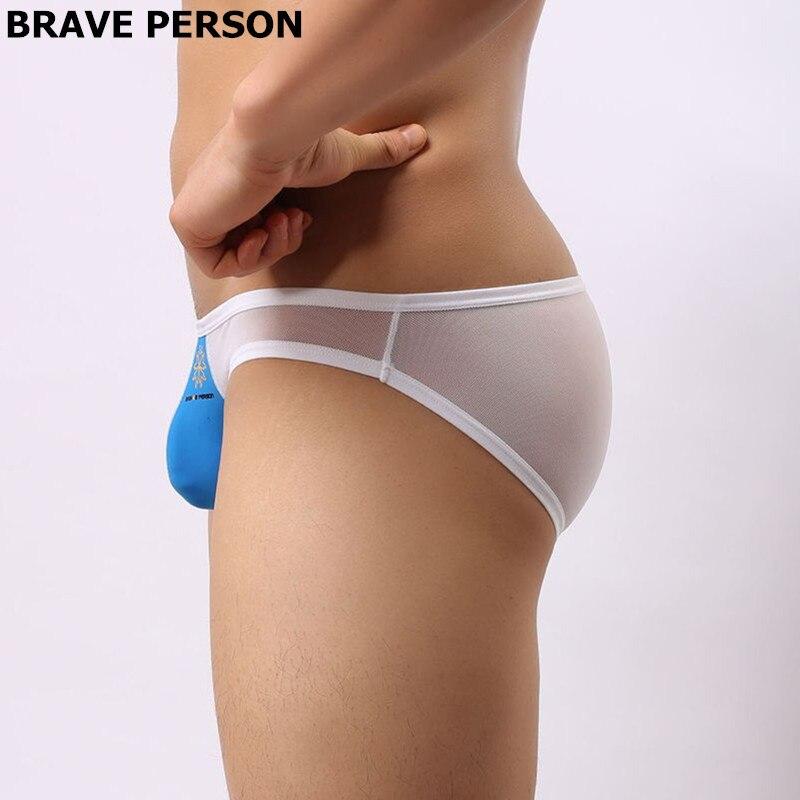 Смелый человек бренд нижнего белья высокого качества мужские трусы прозрачный сетки сексуальные трусы мужские краткие 4 цвета бесплатная доставка b1142