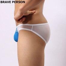 Men's Briefs Transparent Mesh Sexy Underpants