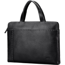 Williampolo men's handbag cross section business casual briefcase first layer cowhide bag