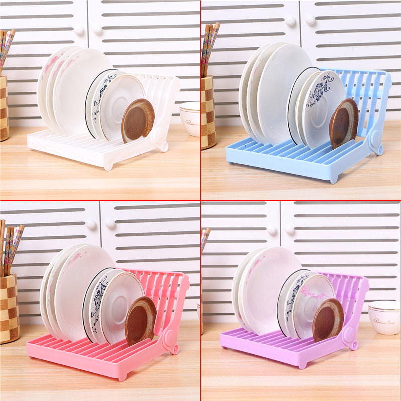 1pc Kitchen Folding Plastic Dish Plate Storage Rack Dish Drying Drainer Rack Organizer Storage Holder Kitchen Accessaries-in Storage Holders \u0026 Racks from ...  sc 1 st  AliExpress.com & 1pc Kitchen Folding Plastic Dish Plate Storage Rack Dish Drying ...