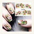 YZWLE 1 Sheet DIY Decals Nails Art Water Transfer Printing Stickers Accessories For Manicure Salon  YZW-8050
