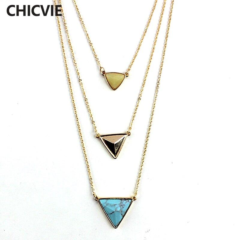 Купить chicvie винтажные ювелирные изделия треугольные массивные ожерелья