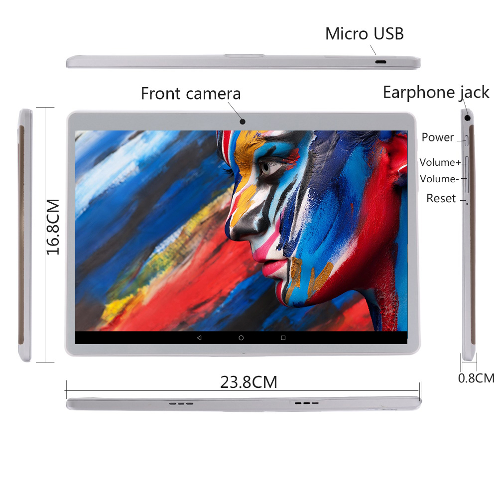 Image 4 - 2020 New 10 inch Tablet PC Octa Core 6GB RAM 128GB ROM 1280*800 IPS 2.5D Tempered Glass 10.1 Tablets Android 9.0+Gifts-in Tablets from Computer & Office