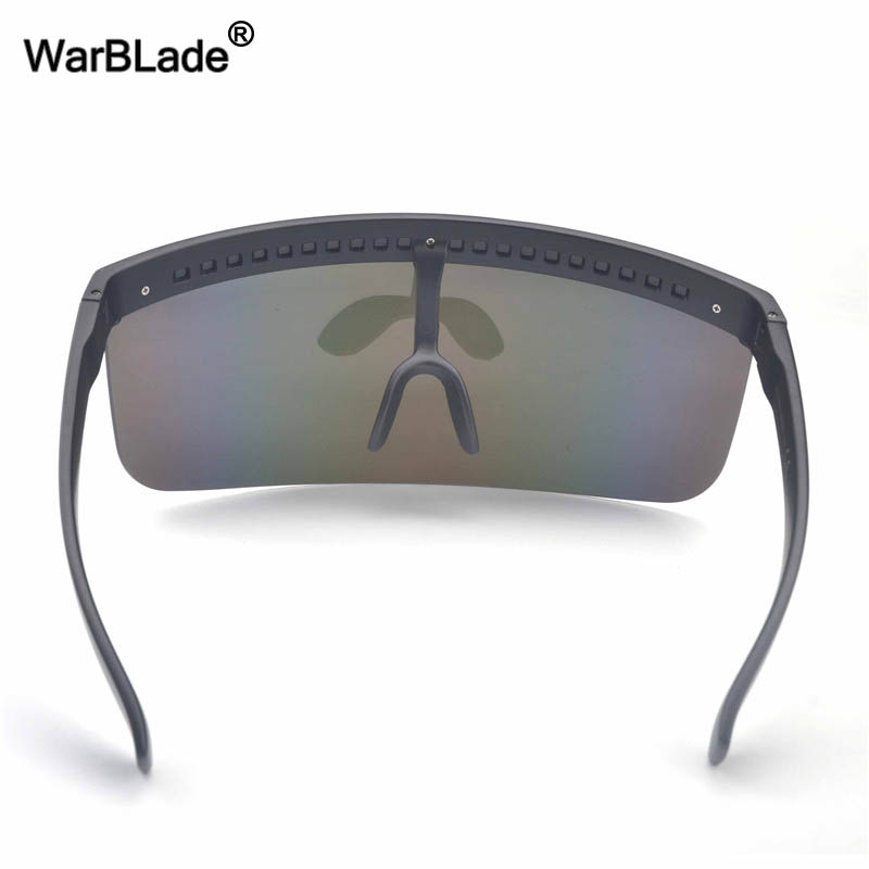 Image 5 - WarBLade New Oversized Shield Visor Sunglasses Women Designer Big Goggle Frame Mirror Sun Glasses Shades Men Windproof Eyewear-in Men's Sunglasses from Apparel Accessories