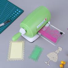 DIY машина для вырезания пластиковой бумаги, для скрапбукинга, альбомная режущая машина для скрапбукинга, зеленая, 15,5*11*8 см