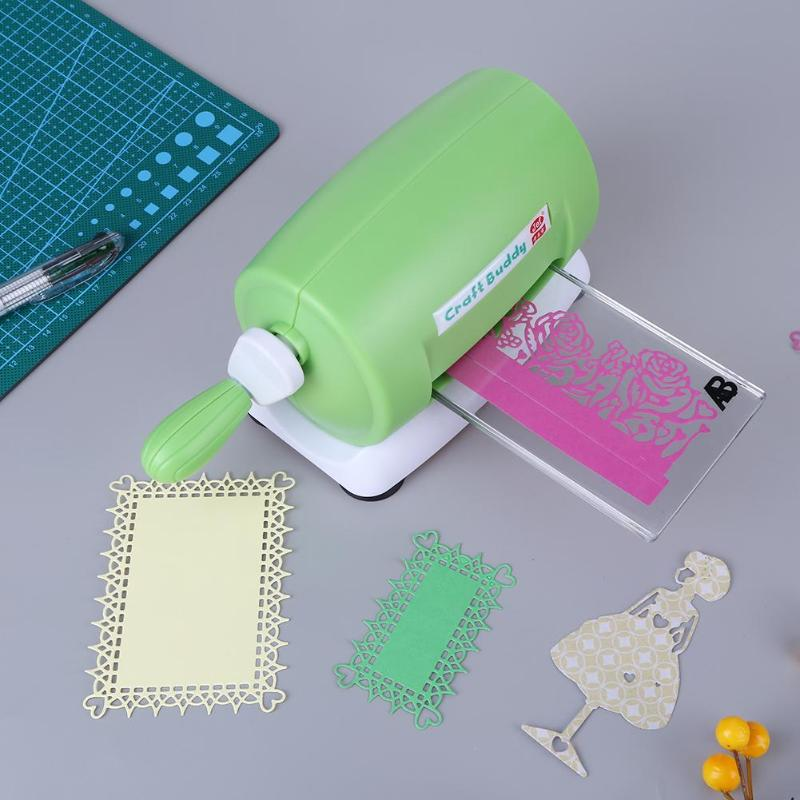 DIY Máquina de Gravação de Corte de Papel Ofício Scrapbooking Álbum de Plástico Pedaço Cortador de Morrer Máquina de Corte Die-Cut Verde 15.5*11*8 cm