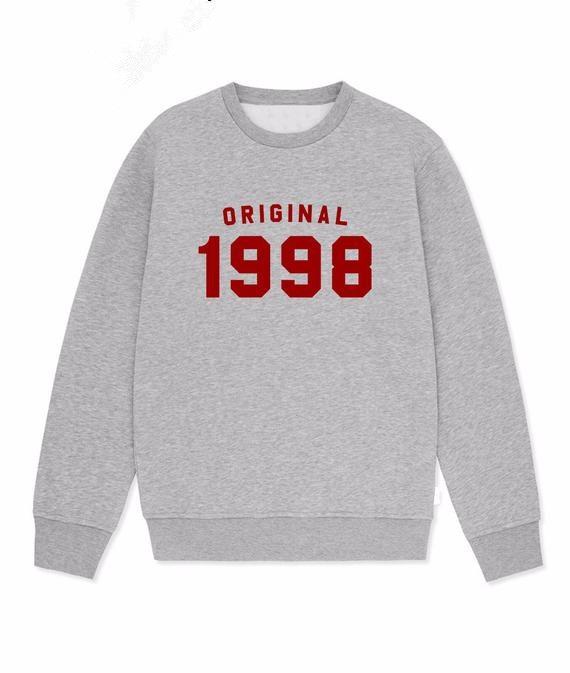 Sugarbaby Original 1998 Sweatshirt 20th Birthday Gift Jumper Vintage For Her Classic Unisex