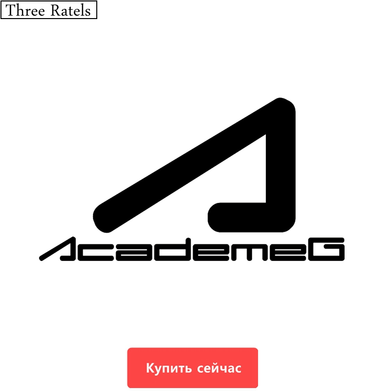 Three Ratels TZ-288 20*10.68cm 20*37.4cm 1-4 Pieces AcademeG Russian Car Sticker Car Stickers