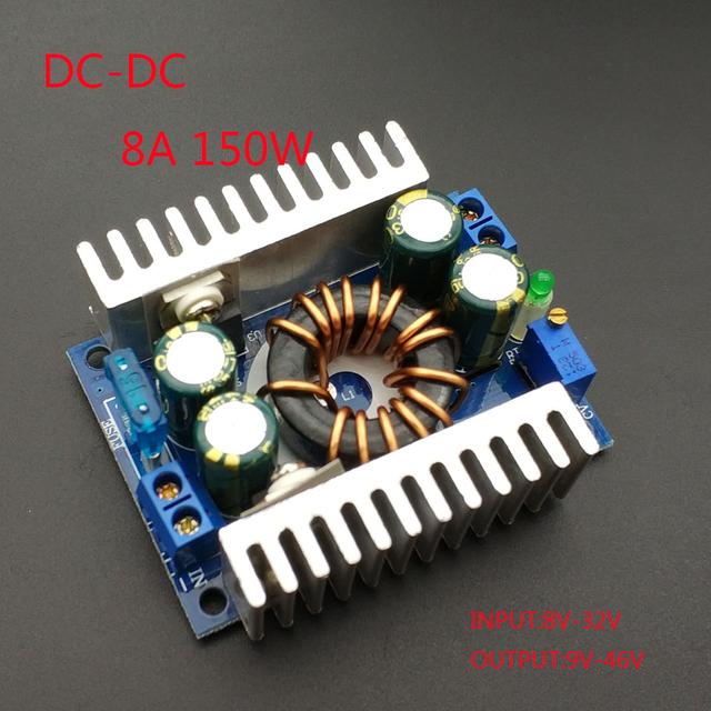 DC/DC Boost Converter 8 32V 12v Step up to 24v 9 46V 150W 8A Power Supply Module