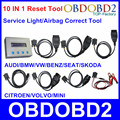 Full Set 10 IN 1 Reset Tool For Multi Brand Cars 10 In 1 Service Light Airbag Resetter Universal Oil Mileage Correction Tool