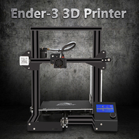 cheapDIY 3d printer Creality Ender3/Ender 3S /Pro upgraded Tempered Glass Optional,V slot Resume Power Failure soft build bed