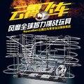 Novo Espaço Carril Engraçado Kit de Construção De Brinquedos da Montanha Russa SpaceRail Nível 2 DIY Spacewarp Erector Set 233-2 5500mm Ferroviário HL048