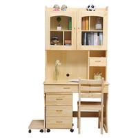 שילוב מדף ספרים מחשב תלמיד שולחן עץ שולחן עבודה שולחן מחקר פשוטה ילדי בית