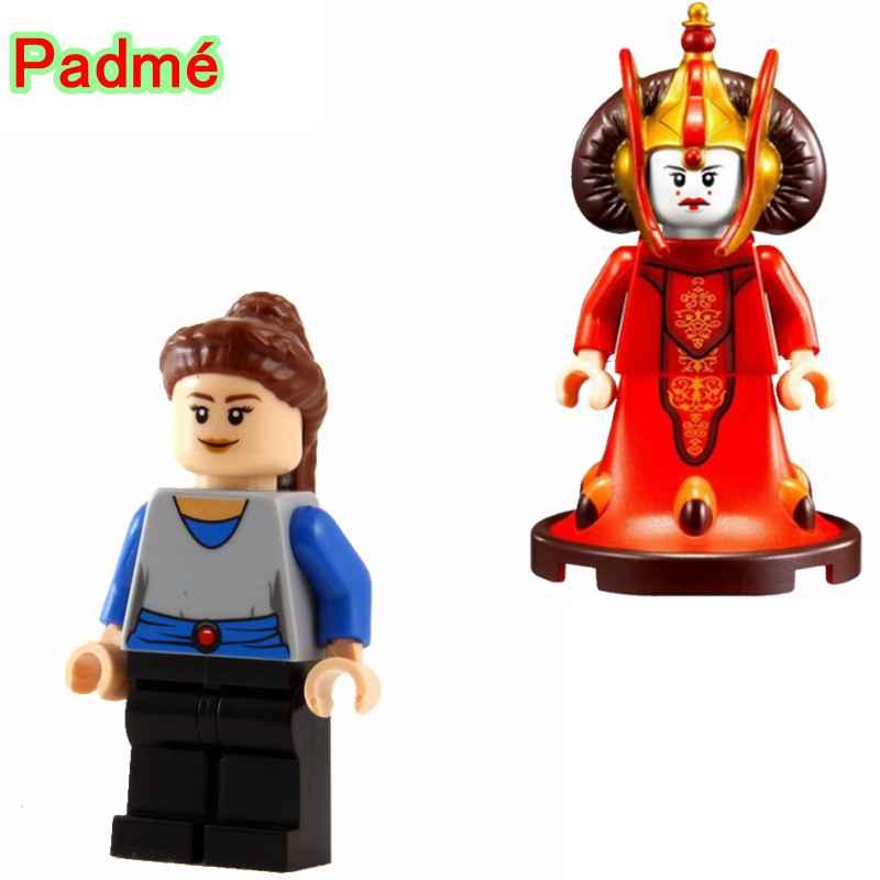 DéLicieux Padme Naberrie Amidala Reine Bloque Unique Legoing Star Wars Les Derniers Jedi Anakin Modèles Blocs De Construction Cadeaux Pour Enfants Pg678