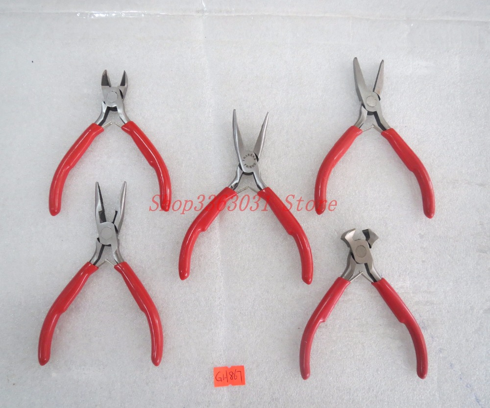 Jewelry Making DIY Tools Pliers Flat Round Nose End Cutting Jewelry Plier set