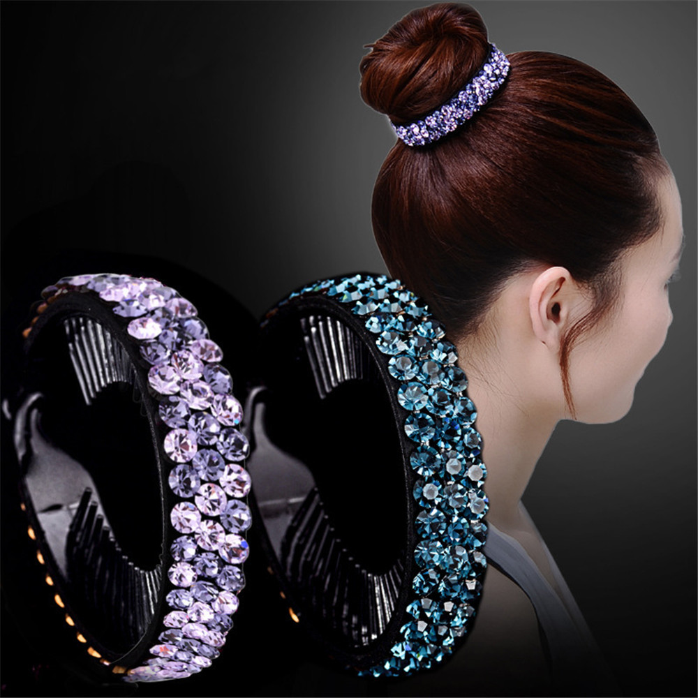 New Meatball Hair Accessories Women Hair Claws   Headwear   Rhinestone Flower Hairpin Bird Nest Floral Twist Clip 16 Colors