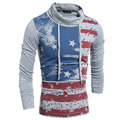 T Shirt Men 2017 Brand Long Sleeve Hip Hop Male Palace T-Shirts Mens Striped Star Casual Mens Funny Tshirt Slim Tee Tops XXL VTY