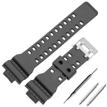 New 16mm Silicone Rubber Watch Band Strap Fit For G Shock Replacement Black Waterproof Watchbands Accessories 16mm silicone rubber watch band strap fit for casio g shock replacement black waterproof watchbands accessories