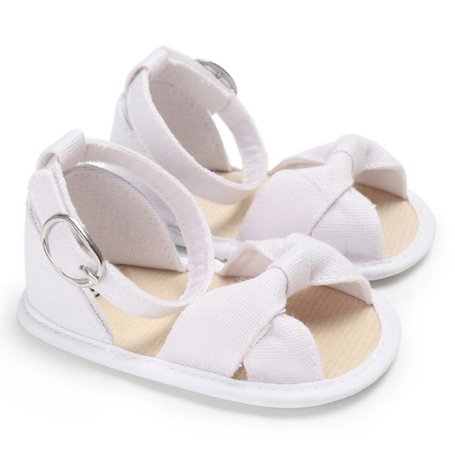 b47e08d4283c6 Newborn Summer Baby Girls Sandals Toddler Newborn Baby Girls Buckle Strap  Bow Soft Crib Shoes Size 0-18 Months