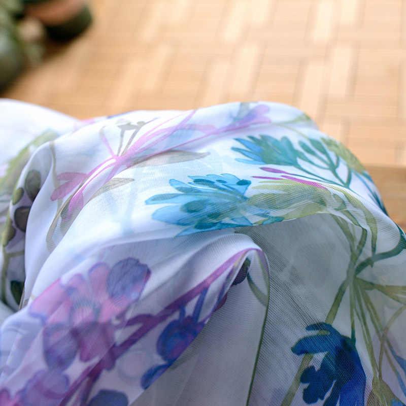 Stile americano Viola Floreale Tende Oscuranti Per Soggiorno Cucina Camera Da Letto Camera Cortinas Stampato Pastorale Complementi Arredo Per Le Finestre