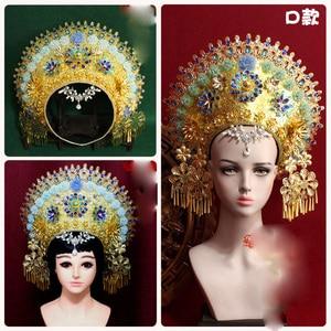 Image 4 - 8 デザイントップ品質タイロイヤルプリンセス髪ティアラ古代中国の衣装ヘアアクセサリーテレビ再生女王ヘア王冠の宝石