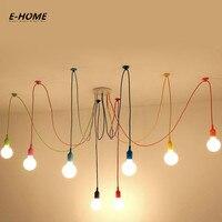 EHOME Modern Colorful Pendant Lights for Dining Room Living Room Pendant Lamp Indoor Decoration Lamp silica 110v 220v DIY