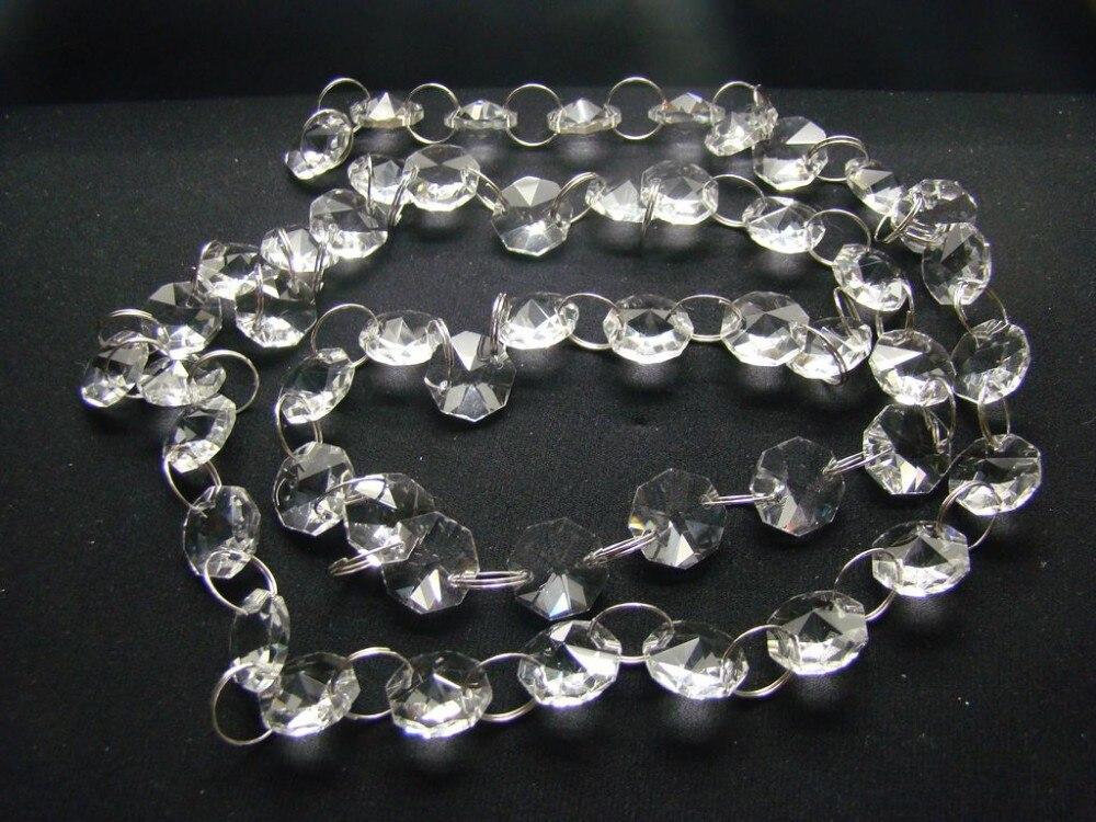 20meters/lot Silver Ring Crystal Garland/ Crystal Strand For Wedding Tree/ Wedding Background Decoration Lights & Lighting Chandelier Crystal