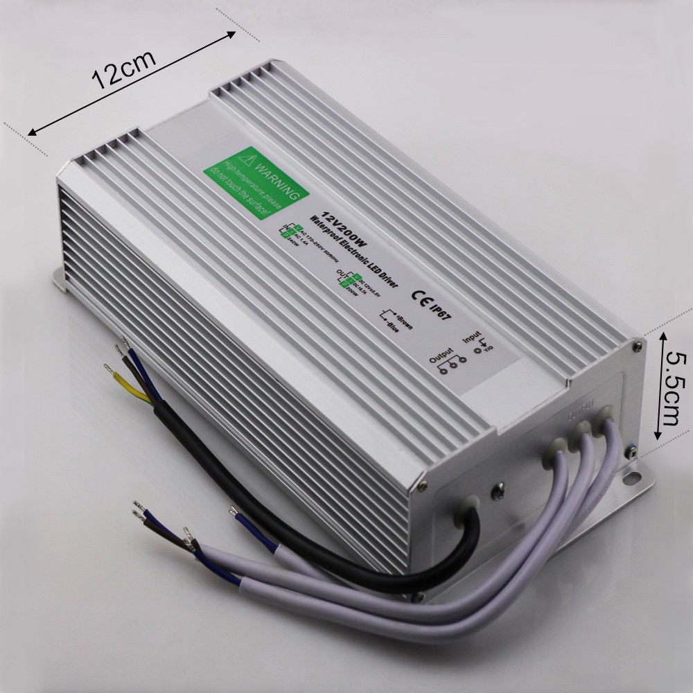 Free Shipping Waterproof DC 12V 200W LED Driver IP67 AC 170-250V Power Supply LED Transformator Switching Power Supply 12V 200W 6es7284 3bd23 0xb0 em 284 3bd23 0xb0 cpu284 3r ac dc rly compatible simatic s7 200 plc module fast shipping