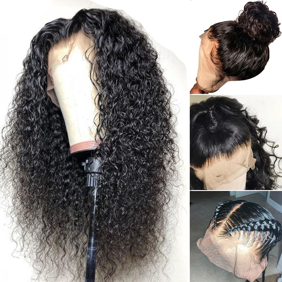 Lumiere Hair Brazilian Water Wave Human Hair Wigs 360 Lace Frontal Wig With Baby Hair Pre
