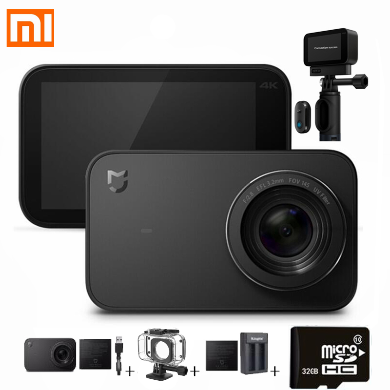 Caméra d'action Xiao mi mi jia mi 4 K/30FPS Ambarella A12S75 Smart mi cmaera caméra sport Bluetooth EIS WiFi 2.4