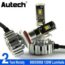 Autech 9006 HB4 LED Headlight 120W 12000LM 9005 HB3 Car Headlamp Bulb Head Light 12V Fog Bulbs Changeable Dual Color 6000K 3000K