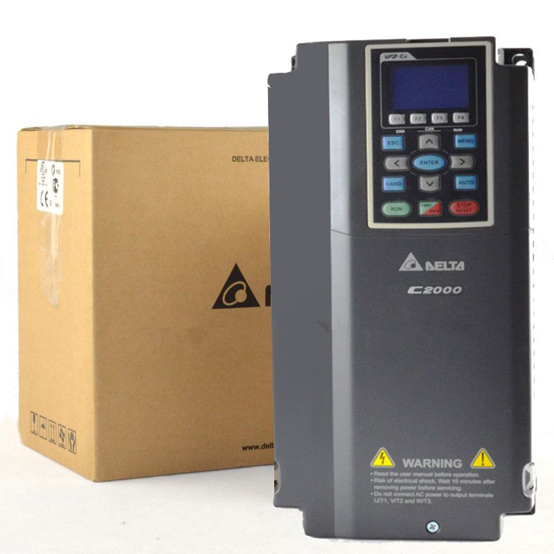VFD037C23A DELTA VFD-C2000 VFD Inverter Frequency converter 3.7kw 5HP 3-Phase AC200-240V FOC Vector Control vfd110cp43b 21 delta vfd cp2000 vfd inverter frequency converter 11kw 15hp 3ph ac380 480v 600hz fan and water pump