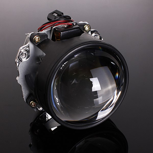 New 2.5 Inch LHD Car Motor Bi-xenon For HID Projector Halo Lens Angle Eye Headlights Bulb Shroud H1 H4 H7  new 2 5 inch lhd car motor bi xenon for hid projector halo lens angle eye headlights bulb shroud h1 h4 h7