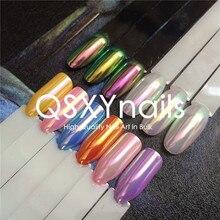 0,5 г Top Aurora пудра неоновая Русалка пудра пигмент единорога хромированный зеркальный блеск для ногтей лак для ногтей