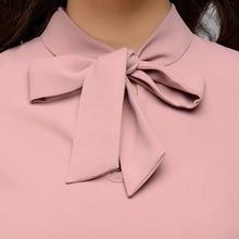 Bow Tie Long Sleeve Chiffon Vintage Blouse RK