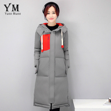 YuooMuoo Winter Coat Women Brand Design High Quality Long Parka Hoody Patchwork Cotton-padded Down Coat Plus Size Women Jacket