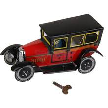 Wind Up Taxi Model Toy Collectible Gift Zwart en Rood(China)