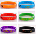 1pcs, New Trendy LOL League of Legend Wristband, Silicon Bracelet with ADC, JUNGLE, MID, SUPPORT, Printed Band,
